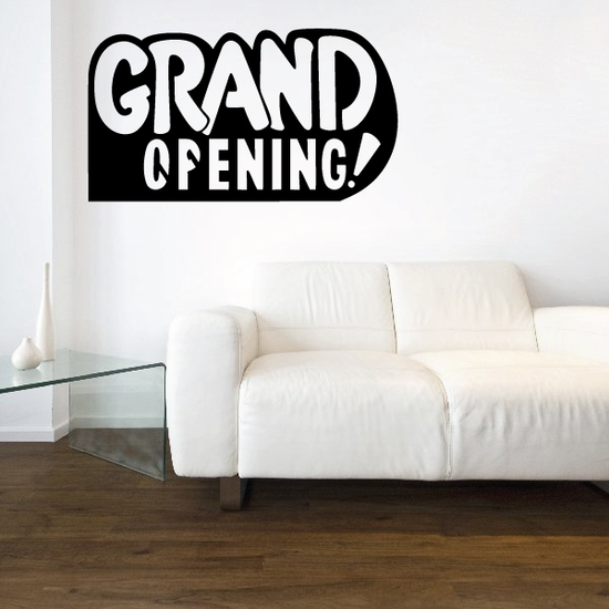 Grand Opening Wall Decal - Vinyl Decal - Car Decal - Business Sign - MC494