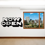 Now Open Wall Decal - Vinyl Decal - Car Decal - Business Sign - MC496