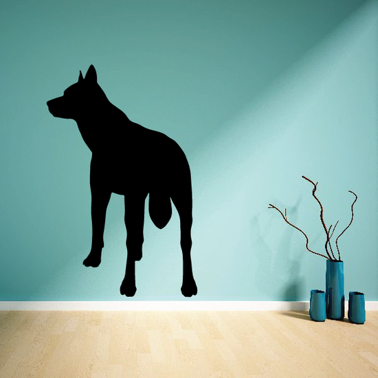 Back Turned Wolf Decal