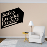 Sales Leasing Rentals Wall Decal - Vinyl Decal - Car Decal - Business Sign - MC501
