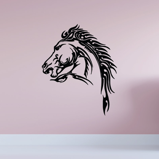 Tough and Gruff Horse Head Decal
