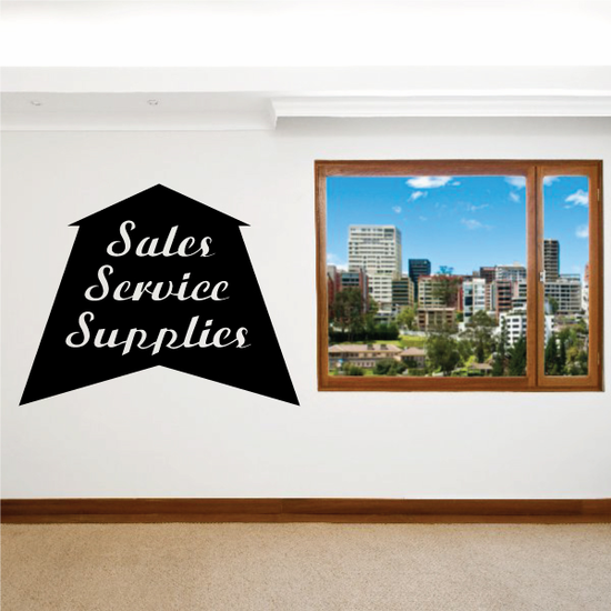 Sales Service Supplies Wall Decal - Vinyl Decal - Car Decal - Business Sign - MC503