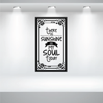 There is Sunshine in my Soul today Decal