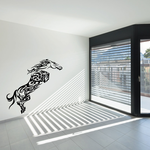 Leaping Swirl Design Horse Decal