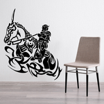 Medieval Horse and Knight Tribal Decal
