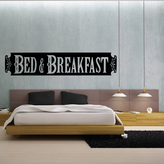 Bed And Breakfast Wall Decal - Vinyl Decal - Car Decal - Business Sign - MC511