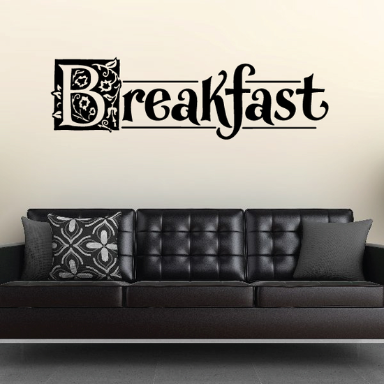 Breakfast Wall Decal - Vinyl Decal - Car Decal - Business Sign - MC512