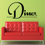 Diner Wall Decal - Vinyl Decal - Car Decal - Business Sign - MC515