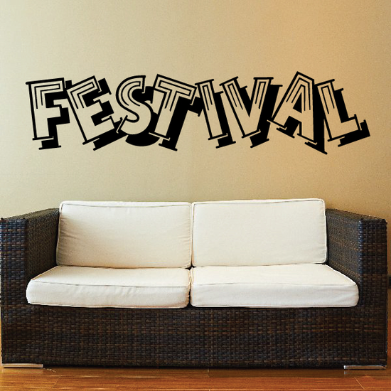 Festival Wall Decal - Vinyl Decal - Car Decal - Business Sign - MC516