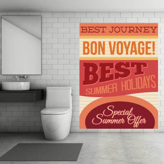 Best Journey Bon Voyage! Best Summer Holidays Special Summer Offers Summer Typography Wall Decal - Vinyl Decal - Car Decal - Idcolor001