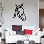 Bridle Horse Head Decal