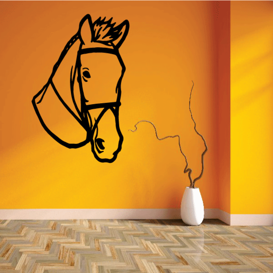 Looking Horse Wearing Bridle Decal