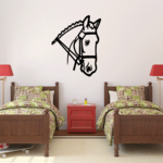 Bridle Reins Horse Head Decal