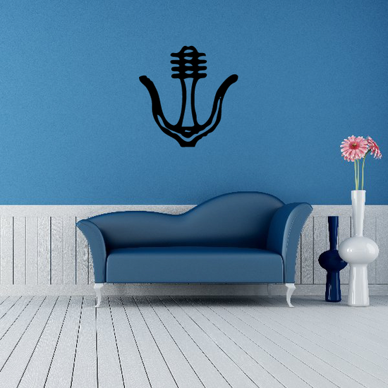 Egyptian Hieroglyphics Floral Symbol Decal