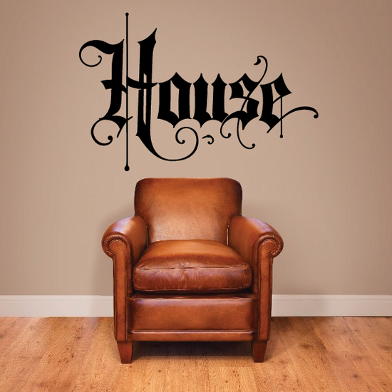House Wall Decal - Vinyl Decal - Car Decal - Business Sign - MC518