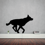Running Wolf Silhouette Decal