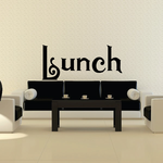 Lunch Wall Decal - Vinyl Decal - Car Decal - Business Sign - MC520
