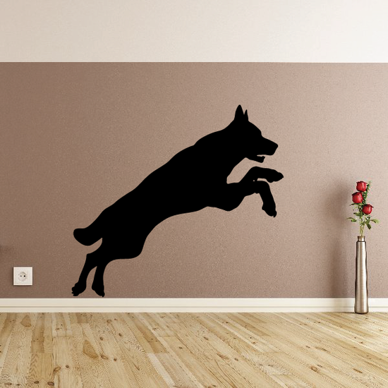 Jumping Wolf Silhouette Decal