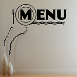 Menu Wall Decal - Vinyl Decal - Car Decal - Business Sign - MC522