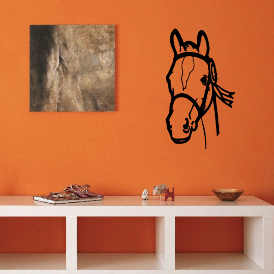 Watching Bridle Horse Decal