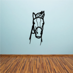 Staring Bridle Horse Head Decal