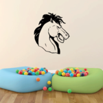 Smiling Champ Horse Head Decal