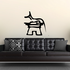 Egyptian Hieroglyphics Seated Cat on Pedestal Decal