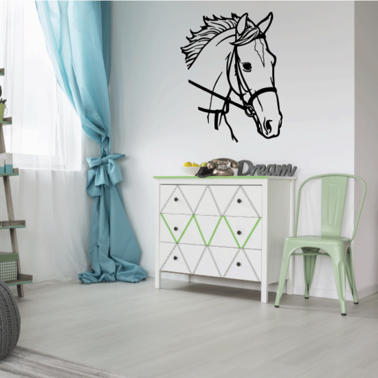 Stable Horse Head Decal