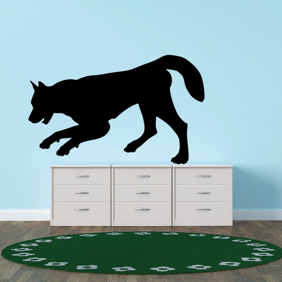 Sniffing Wolf Silhouette Decal