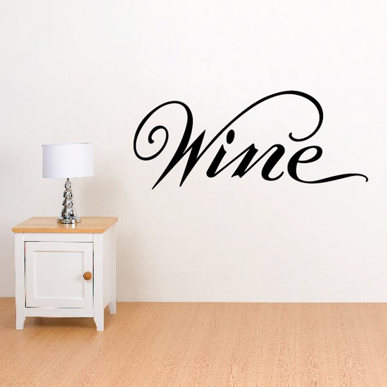 Wine Wall Decal - Vinyl Decal - Car Decal - Business Sign - MC533
