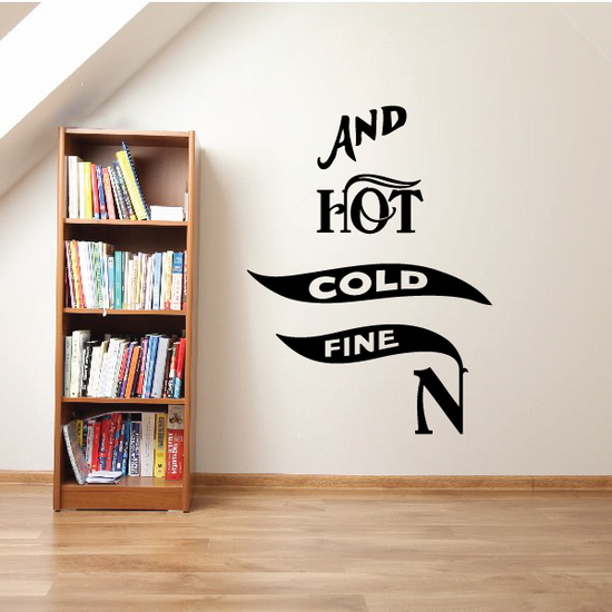 Hot Cold Fine Wall Decal - Vinyl Decal - Car Decal - Business Sign - MC535