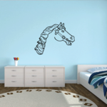 Neighing Graceful Horse Head Decal