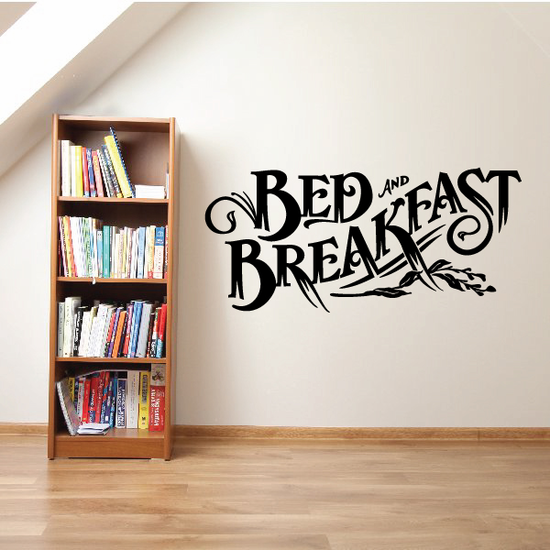 Bed And Breakfast Wall Decal - Vinyl Decal - Car Decal - Business Sign - MC540