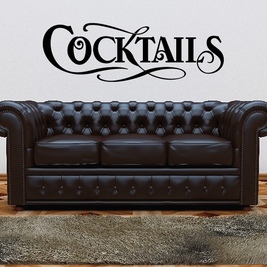 Cocktails Wall Decal - Vinyl Decal - Car Decal - Business Sign - MC542