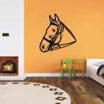 Horse and Bridle Ribbon Decal