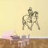 Equestrian Rider and Walking Horse Decal