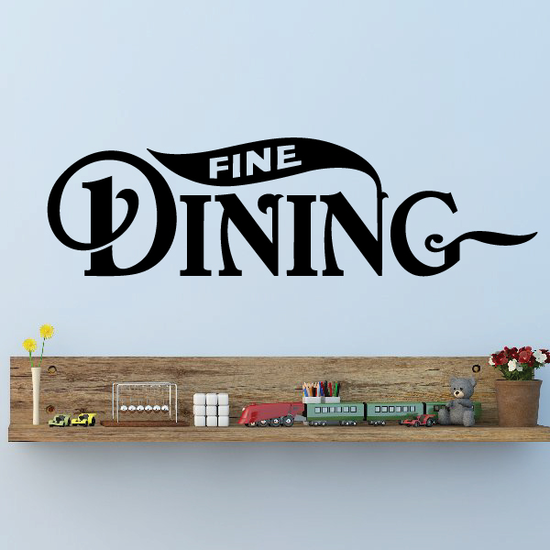 Fine Dining Wall Decal - Vinyl Decal - Car Decal - Business Sign - MC545