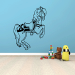Jumping Fancy Horse Decal