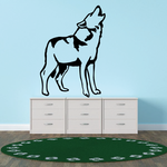 Standing Tundra Wolf Howling Decal