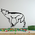 Tundra Wolf Howling Pose Decal