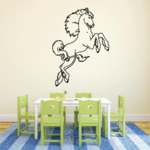 Long Curly Tail Horse Decal