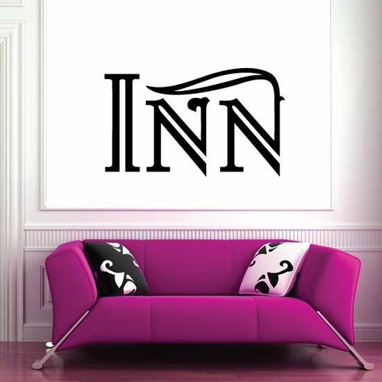 Inn Wall Decal - Vinyl Decal - Car Decal - Business Sign - MC549