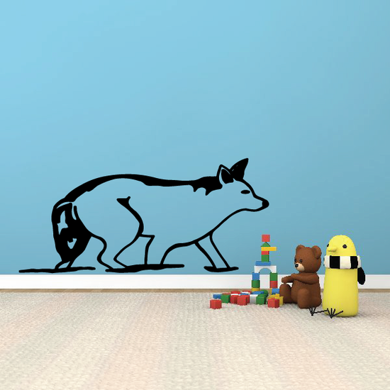 Crouching Arctic Wolf Decal
