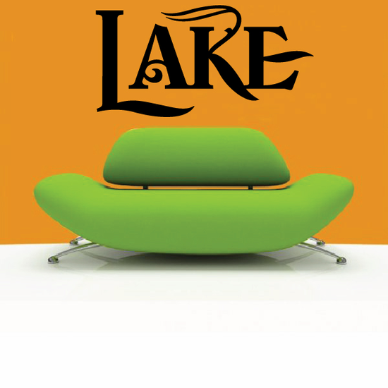 Lake Wall Decal - Vinyl Decal - Car Decal - Business Sign - MC550