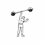 One Hander Barbell Lift Decal