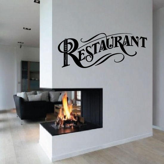 Restaurant Wall Decal - Vinyl Decal - Car Decal - Business Sign - MC553
