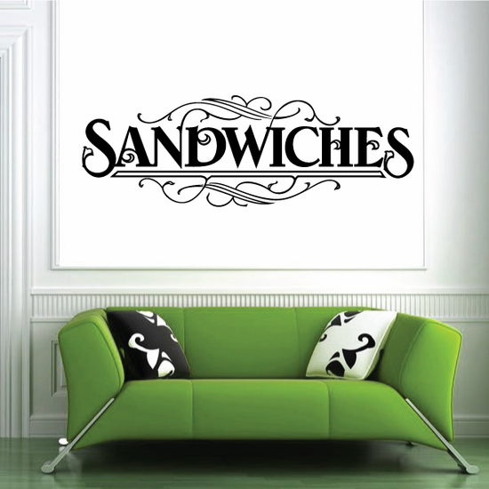 Sandwiches Wall Decal - Vinyl Decal - Car Decal - Business Sign - MC555