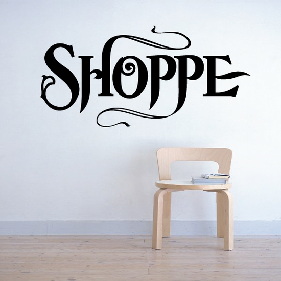 Shoppe Wall Decal - Vinyl Decal - Car Decal - Business Sign - MC556