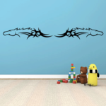 Double Tribal Horse Head Decal