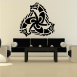 Interlocking Horse Head Decal